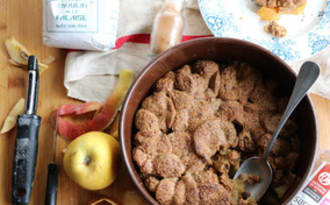 Apple pandowdy ou gâteau aux pommes