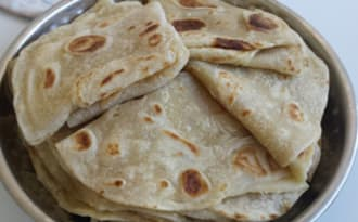 Rotis Mauriciens ou parathas Indiens