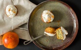 Cupcakes à l'orange sanguine et pavot