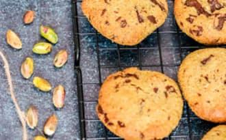 Biscuit à la pistache et pépites de chocolat