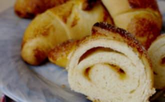 Croissants briochés à l'abricot