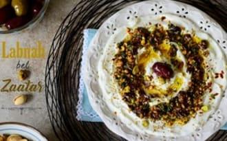 Labneh libanais au zaatar et pistache
