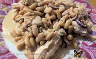 Filets de poulet aux haricots blancs et sa sauce boursin