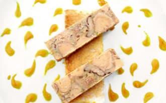 Terrine de foie gras et chutney à la clémentine