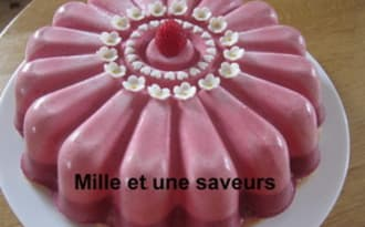 Entremet mousse de framboises et mousses de fruits rouges
