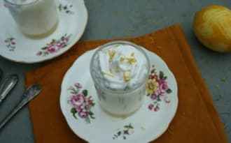 Mousse au citron et chantilly coco vegan