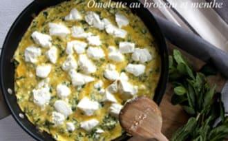 Omelette au brocciu et à la menthe