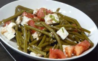 Salade haricots verts tomates