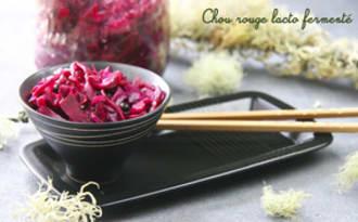 Chou rouge lacto-fermenté façon kimchi