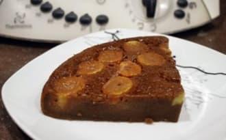 Gâteau chocolat caramel banane