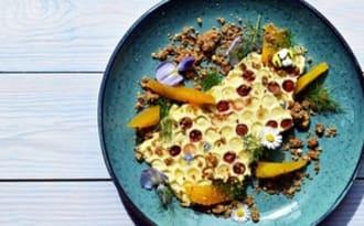 Dessert aux Miels, agrumes et noisettes