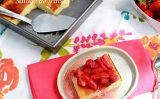 Fiadone, salade de fraises
