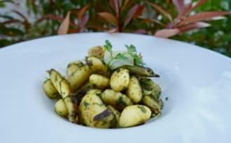 Gnocchis aux asperges vertes