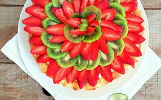 Tarte fraises et kiwis