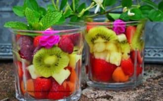 Salade de fruits en bocal