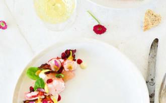 Salade de homard et sa mayonnaise au yuzu