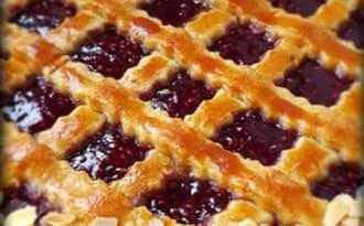 Linzer torte framboise