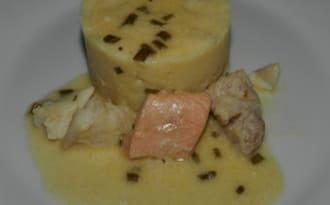 Trio de poissons sauce aux citron et ciboulette