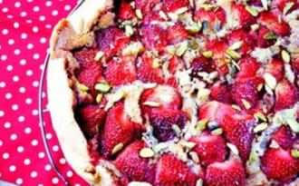 Tarte aux fraises à la frangipane