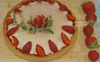 Tarte aux fraises, balsamique et Panna Cotta vanille