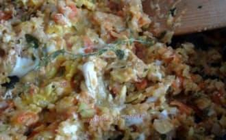 Compotée de courgettes et tomates à l'œuf