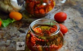 Conserves de tomates cocktail à l'huile