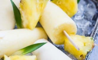 Popsicle Ananas et lait de coco façon pina colada