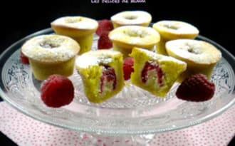 Petits moelleux pistache-framboise
