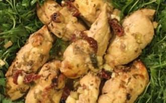 Ballotines de poulet farcies au fenouil et à l'Oussau-iraty
