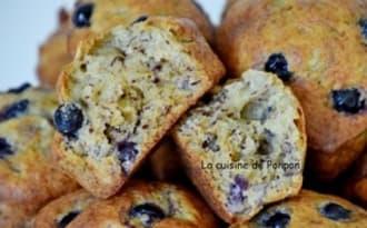 Muffin aux bananes et cassis