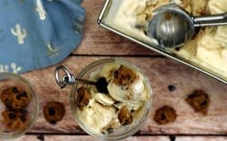 Glace vanille et cookie dough