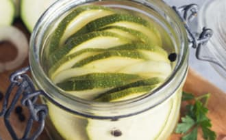 Pickles de courgette