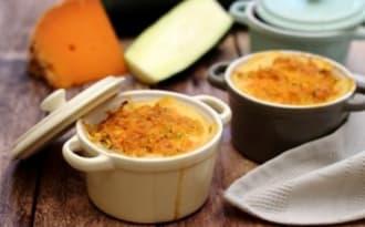Gratin de riz à la courgette et mimolette