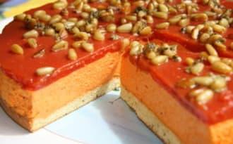 Warhol aux poivrons et au basilic et son palet de tomate