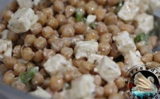 Salade minute feta pois chiches