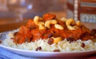 Curry de boeuf au lait de coco