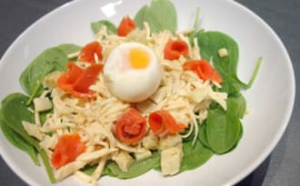 Salade céleri remoulade saumon oeuf