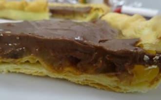 Tarte aux poires chocolatée