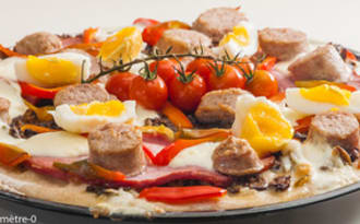 Pizza très gourmande