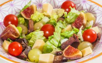 Salade de gésiers et fruits d'automne
