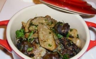 Cassolettes d'escargots aux cèpes