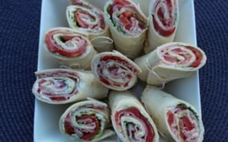 Wraps au St Môret et bacon