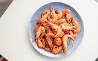 Crevettes savoureuses au sumac, citron et coriandre