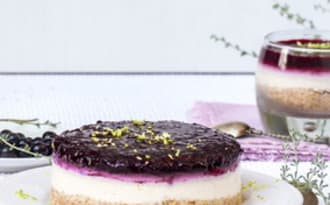 Cheesecake citron et cassis