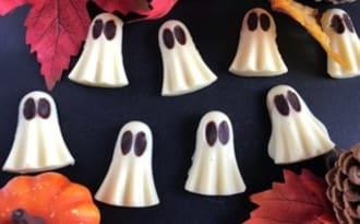 Les petits fantômes au chocolat blanc