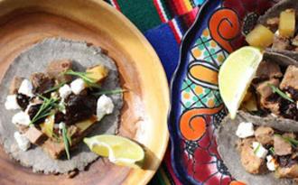 Tacos de langue de porc cuite à la bière
