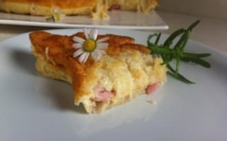 Gâteau magique salé comme une quiche Lorraine