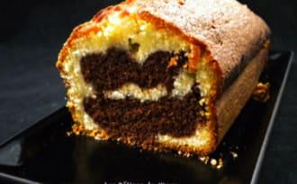 Le cake marbré au chocolat