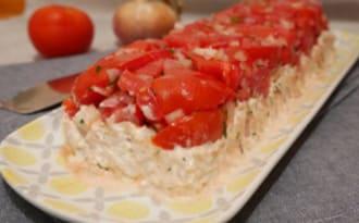 Terrine de tomates thon et crevettes