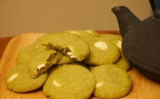 Cookies thé matcha et pépites de chocolat blanc